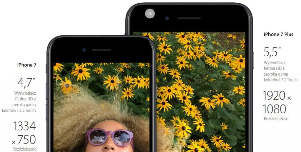 Wyświetlacz iPhone 7 i 7 Plus / fot. Apple