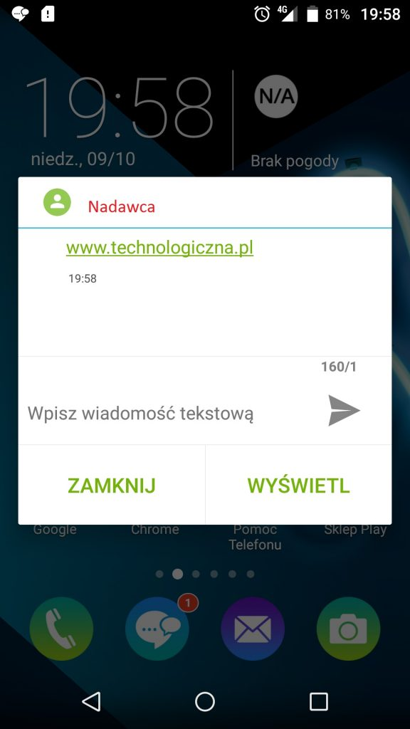 Szybka wiadomość / fot.technologiczna.pl