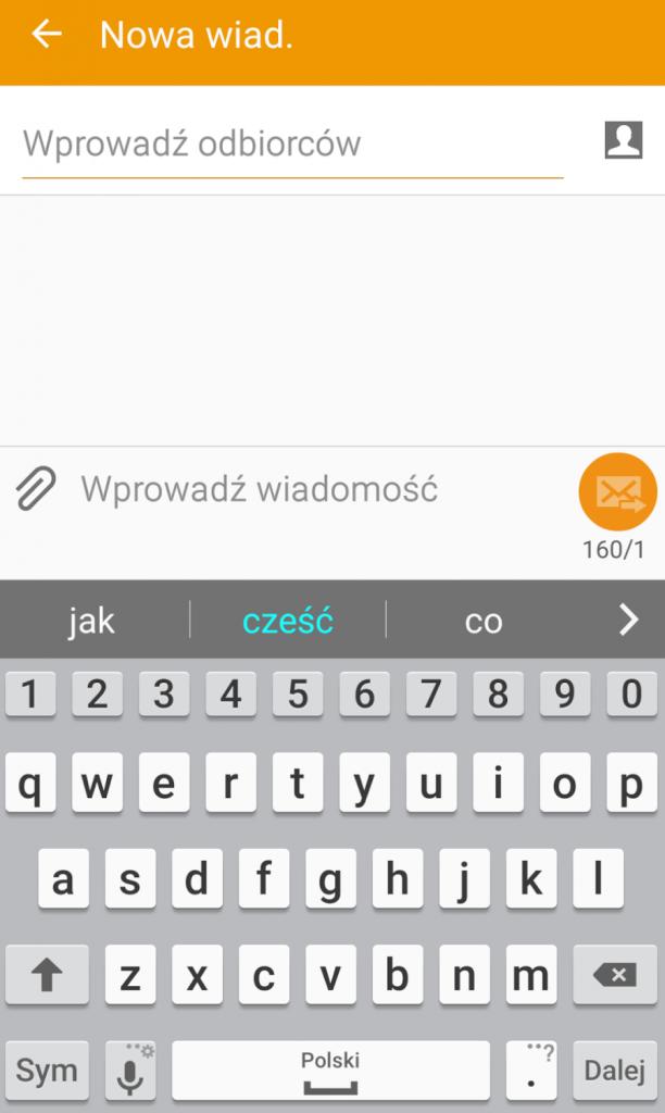 Aplikacja SMS Samsung / fot.technologiczna.pl