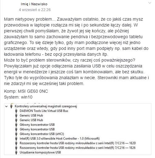 Rozwiązywanie problemu / fot.facebook.com/laptop.nieidealny