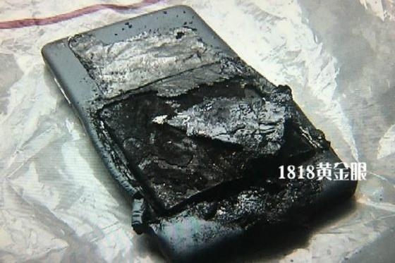 Smartfon Xiaomi Mi4i po wybuchu.