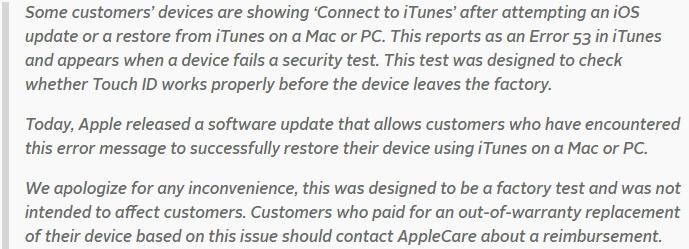 Apple przeprasza / fot.techcrunch.com